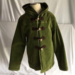 Gymboree green light duffle jacket szM (7-8)
